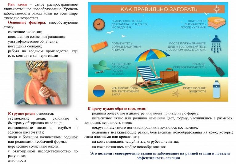 Як уникнути розвитку раку шкіри в літню пору року